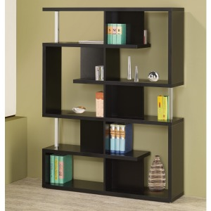 Bookcases Modern Black Finish Bookcase