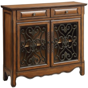 Accent Cabinets Traditional Accent Cabinet in Brown Finish