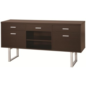 Glavan Contemporary Credenza with Metal Sled Legs