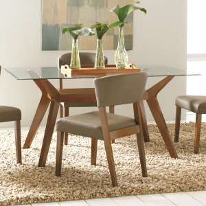 Paxton 12218 Rectangular Glass Dining Table