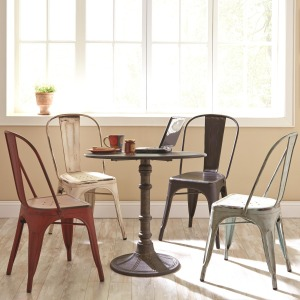 Oswego Round Dining Table Set with Side Chairs