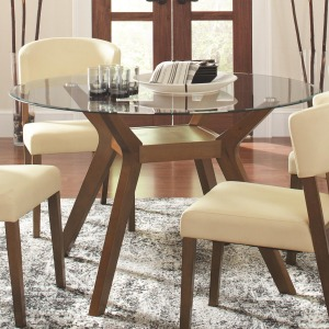 Paxton 12218 Round Glass Dining Table