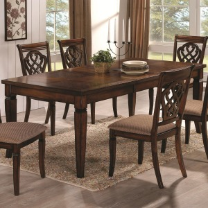 """Dining 10339 Rectangular Dining Table with 18"""" Leaf"""