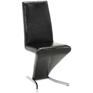 Barzini Upholstered Side Chairs Black