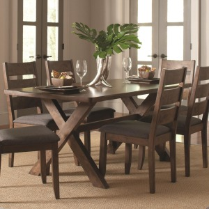 Alston Rustic Trestle Dining Table
