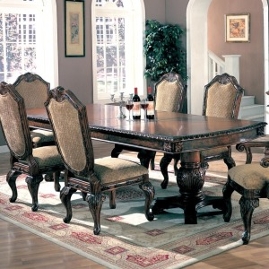 Saint Charles Dining Table with Double Pedestal