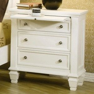 Sandy Beach Night Stand with 3 Drawers