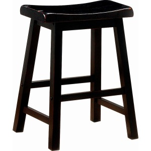 Transitional Black Counter-Height Stool