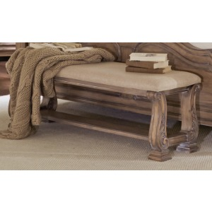 Ilana Upholstered Bench with Bottom Shelf