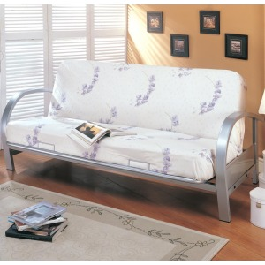 Futons Contemporary Metal Futon Frame and Mattress Set