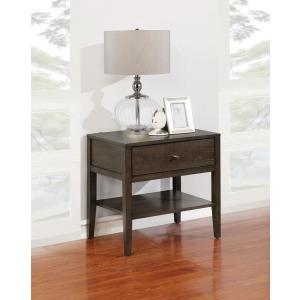 Lompoc Mid-Century Modern Cappuccino Nightstand