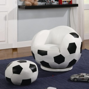 Kids Sports Chairs Small Kids Soccer Ball Chair and Ottoman