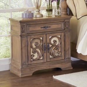 Ilana Traditional One-Drawer Nightstand