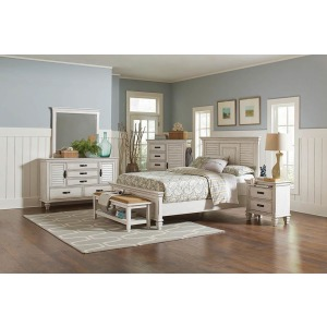 Franco Antique White California King Bed