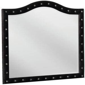 Deanna Contemporary Black and Metallic Mirror
