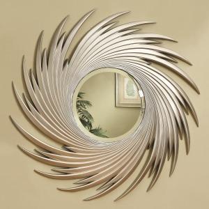 Accent Mirrors Round Spiral Mirror