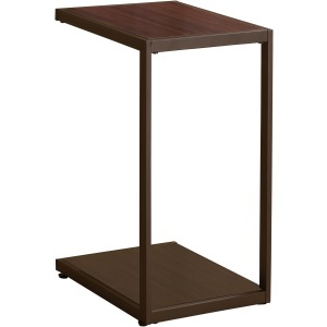 Rectangular Accent Table With Bottom Shelf Brown