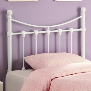 White Metal Twin Headboard