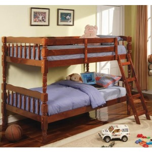 Corinth Twin Bunk Bed with Ladder