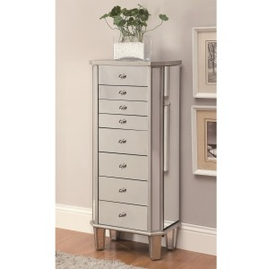 Jewelry Armoires Jewelry Armoire with Flip Mirror Top