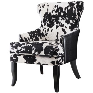 Accent Seating Cowhide Print/Leatherette Accent Chair