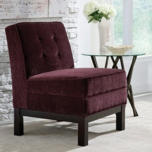 Accent Seating Armless Accent Chair with Tufted Back Cushion