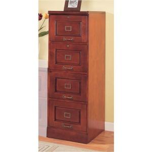 Palmetto Cherry 4 Drawer File Cabinet