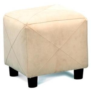 Ottomans Contemporary Microfiber Cube Ottoman