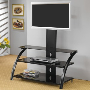 TV Stands Casual Contemporary Metal Media Console with Bracket