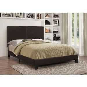 Mauve Upholstered Platform Brown Full Bed