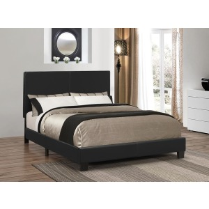 Mauve Upholstered Platform Black Full Bed