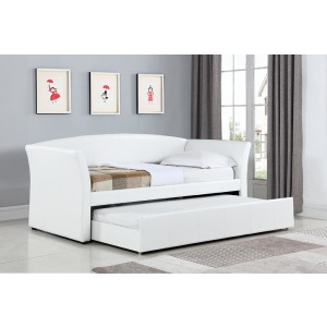 Transitional White Upholstered Daybed