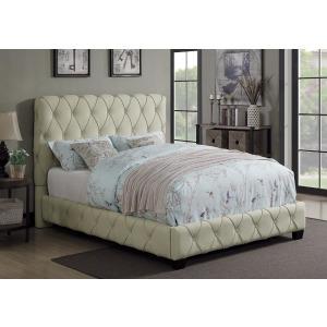 Elsinore Beige Upholstered King Bed