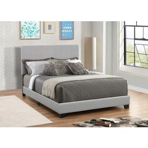 Dorian Grey Faux Leather Upholstered King Bed