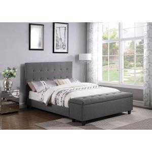 Halpert Transitional Light Grey Queen Bed