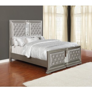 Adele Contemporary Metallic Full Bed