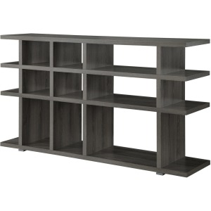 Bookcases Contemporary Weathered Grey Bookcase/Console