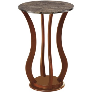 Transitional Brown Accent Table