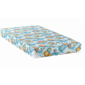 5″ Twin Balloon Foam Mattress With Wood Bunkie Blue