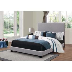 Boyd Upholstered Grey Full Bed