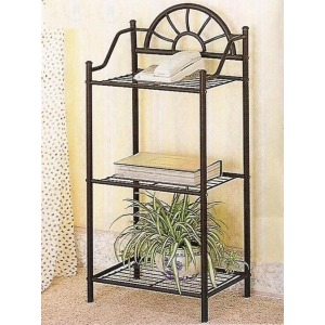 Accent Stands Sunburst Three Shelf Telephone Stand