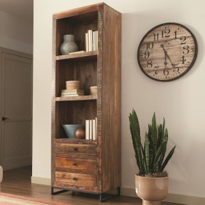 Accent Cabinets Tall Open Bookcase