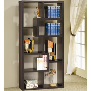 Bookcases Contemporary Asymmetrical Cube Bookcase