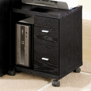 Contemporary Black Oak CPU Stand