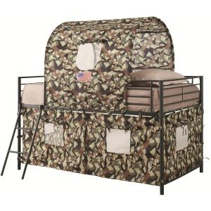 Bunks Camouflage Tent Loft Bed