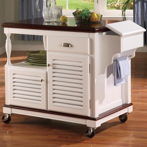 Kitchen Carts Cherry Topped Kitchen Cart