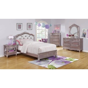Caroline Metallic Lilac Full Bed