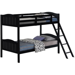 Littleton Twin/Twin Bunk Bed With Ladder - Black