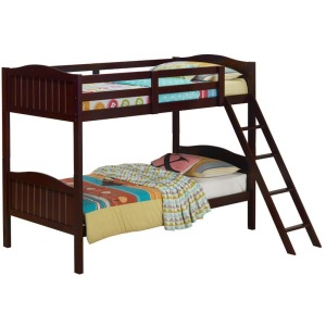 Littleton Twin/Twin Bunk Bed With Ladder - Espresso