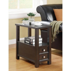 Accent Tables Casual 1-Drawer 1-Shelf Chairside Table